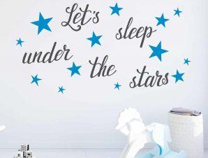 Διακοσμητικά αυτοκόλλητα τοίχου Let's Sleep L