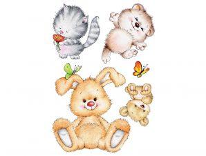 Διακοσμητικά Αυτοκόλλητα Τοίχου Cute Animals XL