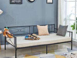 """Κρεβάτι """"QUEEN"""" μονό μεταλλικό σε χρώμα μαύρο 196x95x75"""