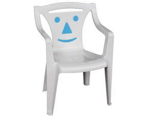 """Πολυθρονάκι """"BIMBO"""" από PP σε χρώμα μπλε/λευκό 40x37x54"""