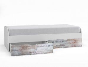 """Κρεβάτι """"PUMP"""" μονό σε χρώμα λευκό-λευκό αντικέ 93x203x55"""