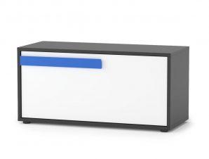"""Κουτί αποθηκευτικό """"ALEX"""" σε χρώμα γραφίτης δρυς σονόμα λευκό 84x35x39"""