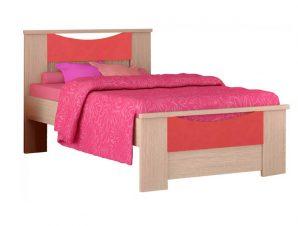 """Παιδικό κρεβάτι """"ΧΑΜΟΓΕΛΟ"""" ημίδιπλο σε χρώμα δρυς-πορτοκαλί 110×190"""