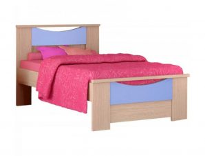 """Παιδικό κρεβάτι """"ΧΑΜΟΓΕΛΟ"""" ημίδιπλο σε χρώμα δρυς-σιελ 110×190"""