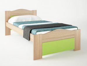 """Παιδικό κρεβάτι """"ΚΥΜΑ"""" μονό σε χρώμα δρυς-λαχανί 90×190"""