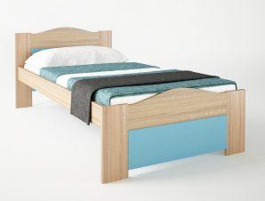 """Παιδικό κρεβάτι """"ΚΥΜΑ"""" μονό σε χρώμα δρυς-σιελ 90×190"""
