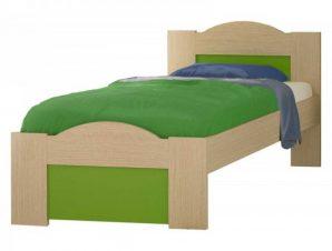 """Παιδικό κρεβάτι """"ΚΥΜΑ"""" ημίδιπλο σε χρώμα δρυς-λαχανί 110×190"""