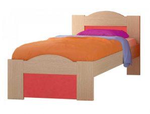 """Παιδικό κρεβάτι """"ΚΥΜΑ"""" ημίδιπλο σε χρώμα δρυς-πορτοκαλί 110×190"""