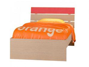 """Παιδικό κρεβάτι """"ΝΟΤΑ"""" μονό σε χρώμα δρυς-πορτοκαλί 90×190"""