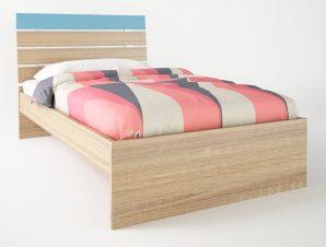 """Παιδικό κρεβάτι """"ΝΟΤΑ"""" ημίδιπλο σε χρώμα δρυς-σιελ 110×190"""