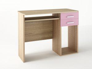 Παιδικό γραφείο σε χρώμα δρυς-ροζ 100x55x80