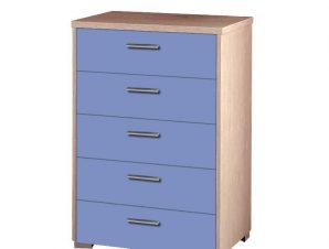 Συρταριέρα παιδική με 5 συρτάρια σε χρώμα δρυς-σιελ 60x45x90