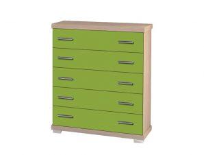 Συρταριέρα παιδική σε χρώμα δρυς-λαχανί 80x45x90