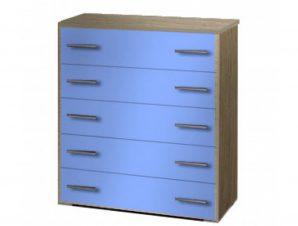 Συρταριέρα παιδική με 5 συρτάρια σε χρώμα δρυς-σιελ 80x45x90