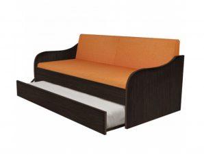"""Κρεβάτι-καναπές """"SILKY"""" με συρόμενο κρεβάτι σε χρώμα βέγγε 80×190"""