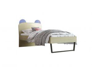"""Παιδικό κρεβάτι """"ΚΟΡΩΝΑ"""" ημίδιπλο σε χρώμα δρυς-σιελ 110×190"""