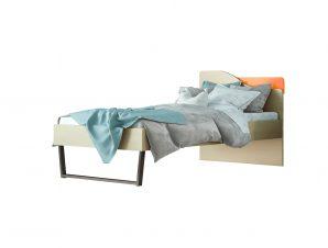 """Παιδικό κρεβάτι """"ΤΟΞΟ"""" μονό σε χρώμα δρυς-πορτοκαλί 90×190"""