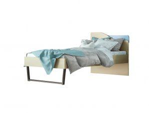 """Παιδικό κρεβάτι """"ΤΟΞΟ"""" ημίδιπλο σε χρώμα δρυς-σιελ 110×190"""