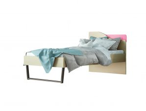 """Παιδικό κρεβάτι """"ΤΟΞΟ"""" ημίδιπλο σε χρώμα δρυς-ροζ 110×190"""