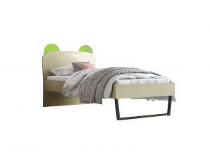 """Παιδικό κρεβάτι """"ΚΟΡΩΝΑ"""" μονό σε χρώμα δρυς-λαχανί 90×190"""