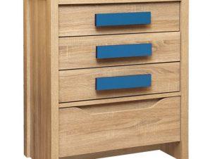 """Συρταριέρα """"PLAYROOM"""" σε χρώμα σονόμα/μπλε 63x40x80"""