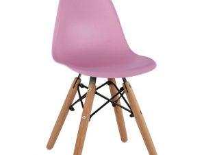 """Καρέκλα παιδική """"TWIST KID"""" από PP σε χρώμα φυσικό/ροζ 30,5x33x59"""