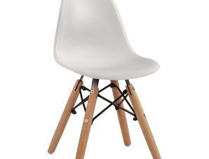 """Καρέκλα παιδική """"TWIST KID"""" από PP σε χρώμα φυσικό/λευκό 30,5x33x59"""