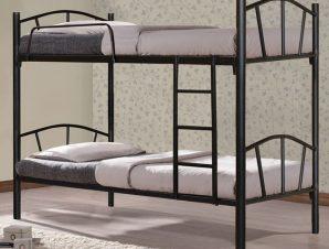 """Κουκέτα κρεβάτι """"FLOOR"""" μεταλλική σε χρώμα μαύρο 90×190"""