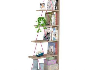 """Βιβλιοθήκη """"MINI TARS"""" σε χρώμα σονόμα/φουξ 65x22x146"""