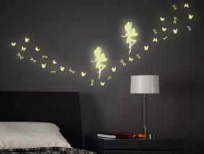 Διακοσμητικά Αυτοκόλλητα Τοίχου Fairy Glow Φωσφορίζοντα M