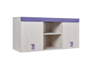 """Ραφιέρα γραφείου """"NUMERO"""" σε λευκό-μωβ χρώμα 120x42x57,5"""