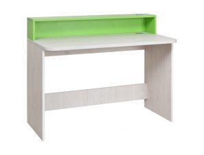 """Γραφείο εργασίας """"NUMERO"""" σε λευκό-πράσινο χρώμα 120x60x75/93"""