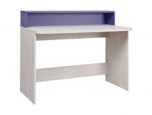 """Γραφείο εργασίας """"NUMERO"""" σε λευκό-μωβ χρώμα 120x60x75/93"""