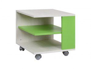 """Τραπεζάκι """"NUMERO"""" τροχήλατο σε λευκό-πράσινο χρώμα 45x45x43"""
