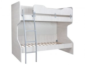 """Κρεβάτι κουκέτα """"NUMERO"""" σε λευκό δρυός χρώμα 102,5x205x175"""