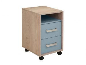 """Κομοδίνο """"KINDER"""" σε χρώμα δρυς/μπλε 40x42x64"""