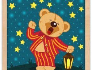 Αρκουδάκι με πιτζάμες Παιδικά Πίνακες σε καμβά 50 x 50 cm