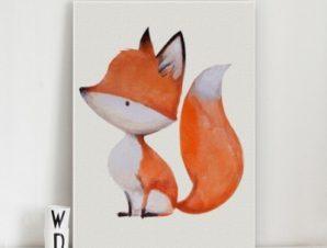 Μικρή αλεπού Παιδικά Πίνακες σε καμβά 50 x 40 cm