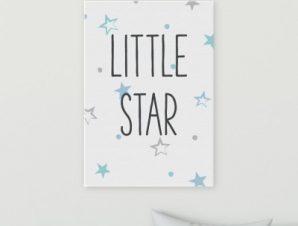 Μικρό αστέρι Παιδικά Πίνακες σε καμβά 58 x 40 cm