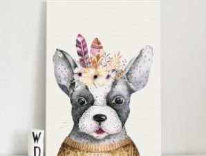 Χαριτωμένο σκυλάκι Παιδικά Πίνακες σε καμβά 51 x 40 cm