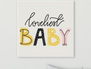 Το πιο αξιαγάπητο μωράκι Παιδικά Πίνακες σε καμβά 50 x 50 cm