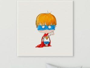 Υπερήρωας Παιδικά Πίνακες σε καμβά 50 x 50 cm