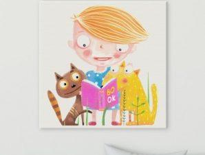 Το βιβλίο Παιδικά Πίνακες σε καμβά 50 x 50 cm