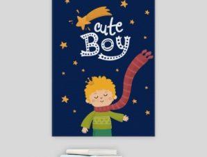 Χαριτωμένο αγοράκι Παιδικά Πίνακες σε καμβά 57 x 40 cm