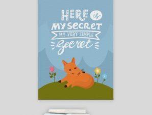 Να το μυστικό μου! Παιδικά Πίνακες σε καμβά 57 x 40 cm