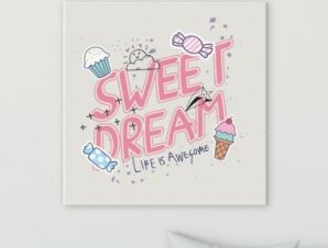 Όνειρα γλυκά Παιδικά Πίνακες σε καμβά 50 x 50 cm