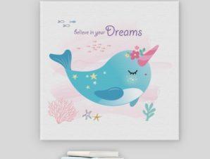Πίστεψε στα όνειρά σου Παιδικά Πίνακες σε καμβά 50 x 50 cm