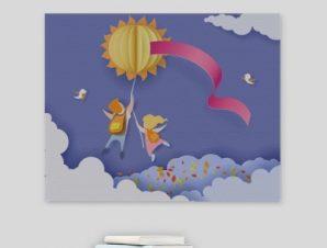 Πίσω στο σχολείο Παιδικά Πίνακες σε καμβά 52 x 65 cm