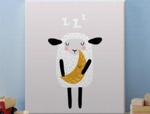 Προβατάκι Παιδικά Πίνακες σε καμβά 50 x 50 cm