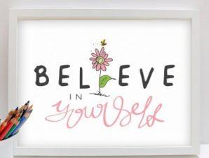 Πίστεψε στον εαυτό σου Παιδικά Πίνακες σε καμβά 45 x 60 cm